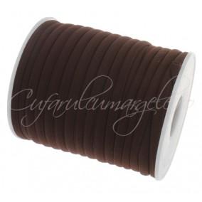 Snur elastic textil 5mm maro 1m