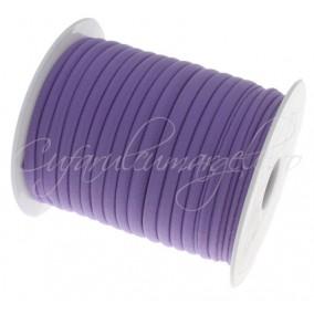 Snur elastic textil 5mm mov 1m