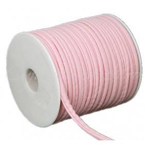 Snur elastic textil 5mm roz 1m
