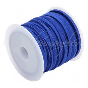 Snur faux suede albastru regal 3x2mm rola 4,2m