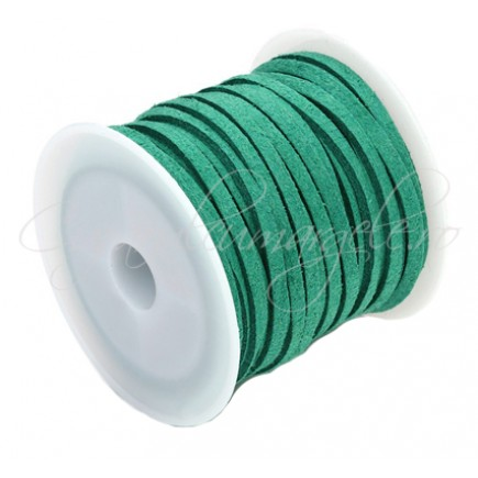 Snur faux suede verde 3x2mm rola 4,2m