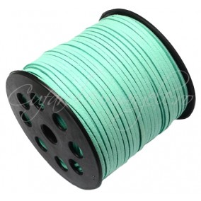 Snur faux suede verde ou rata 3x2mm 1m