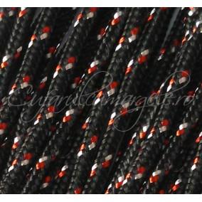 Snur paracord 3mm negru rosu 10m