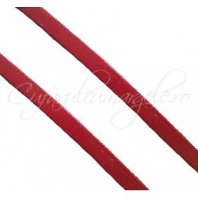Snur piele naturala fir patrat 4x3 mm maro roscat