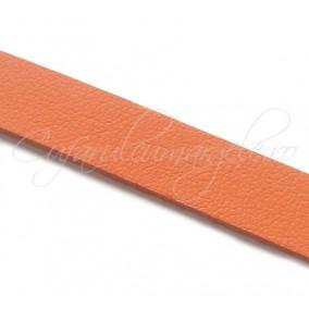 Snur piele naturala fir plat 10 mm caramiziu 1m
