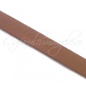 Snur piele naturala fir plat 10 mm maro 1m