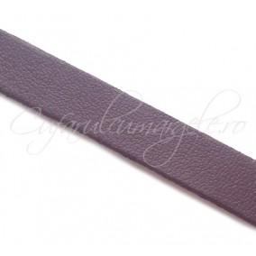 Snur piele naturala fir plat 10 mm mov 1m