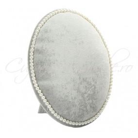 Suport placa catifea gri cercei brose 22x17cm