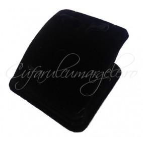 Suport set bijuterii velur negru 7x7x4cm