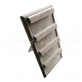 Suport vertical catifea gri 15x30cm cercei
