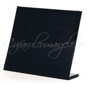 Suport vertical catifea neagra 33x28cm expunere 60 perechi cercei