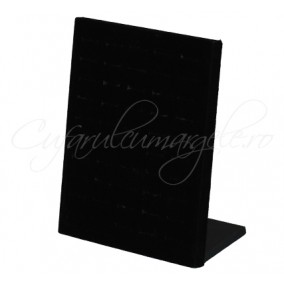 Suport vertical velur negru 50 inele