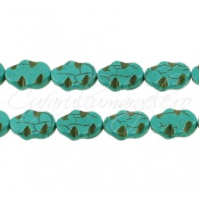Turcoaz sintetic oval 20x15mm