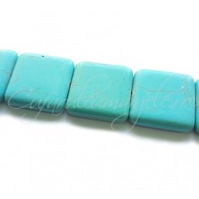 Turcoaz sintetic patrat 25mm