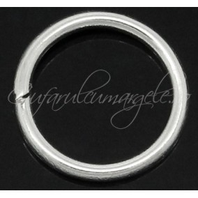 Zale simple alb argintiu gros 12 diametru 14mm (100 zale)