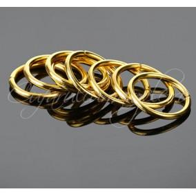 Zale simple aurii gros 10 diametru 10mm (100 zale)