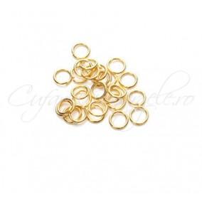 Zale simple aurii gros 7 diametru 5mm (100 zale)