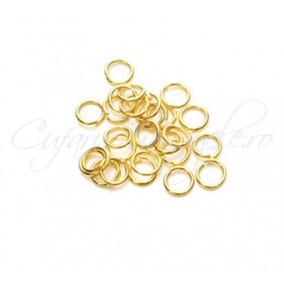 Zale simple aurii gros 7 diametru 6mm (100 zale)