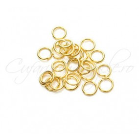 Zale simple aurii gros 7 diametru 8mm (100 zale)