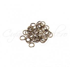 Zale simple bronz gros 7 diametru 5mm (100 zale)