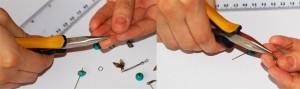 cercei verzi, tutorial cercei, accesorii cercei, montare cercei