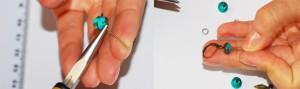 asamblare cercei, tutorial cercei verzi, accesorii cercei