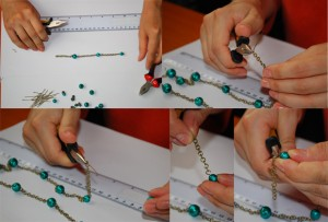 etape montare colier verde 1